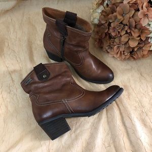 Pikolinos brown leather ancle booties SZ 37